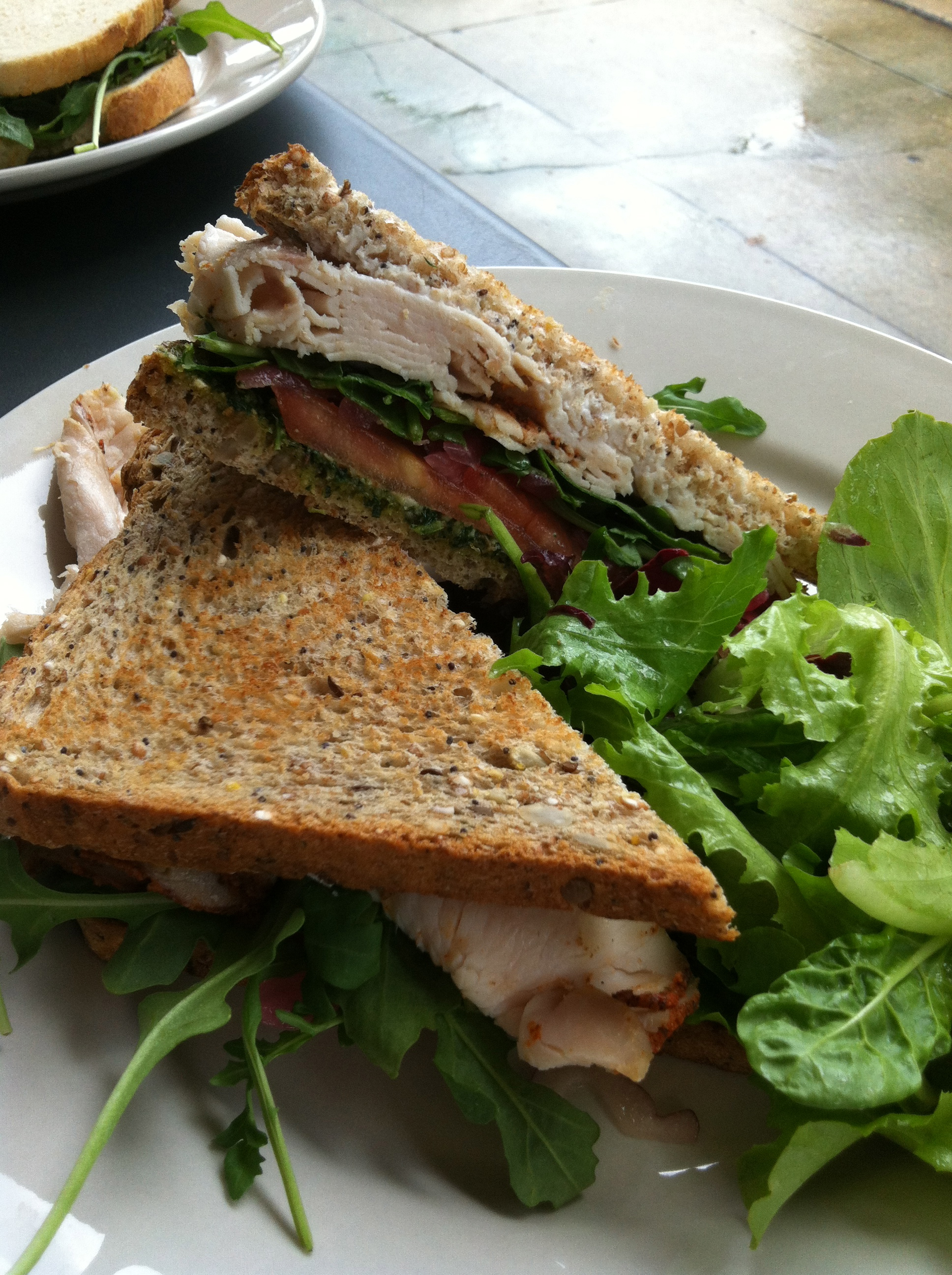 Turkey sandwich on wheat instead of ciabatta – they use the Whole ...